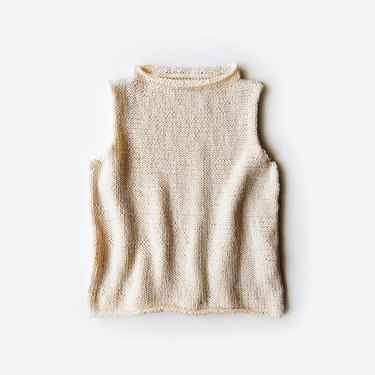 DIY knit cotton shell top with cropped fit