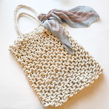 Knit rope market tote