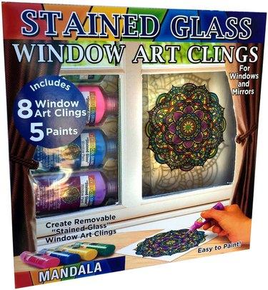 stained glass mandala window art
