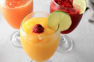 Peach, mango and raspberry daiquiri recipes