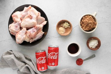 Ingredients for Coca-Cola chicken wings
