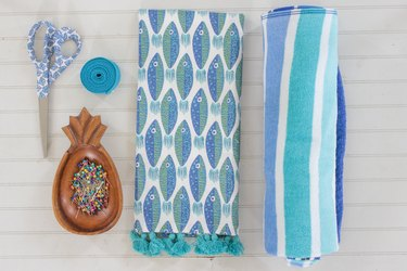 materials for beach towel tote