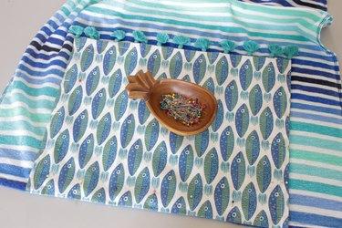 pin hand towel to beach towel
