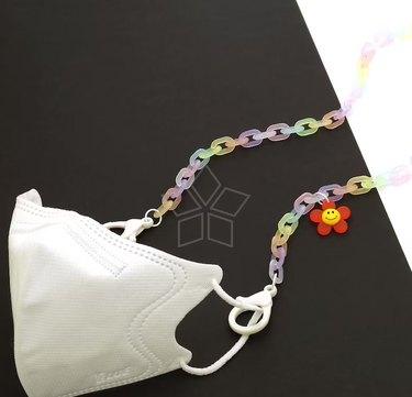 Rainbow Acrylic Chain Face Mask Strap Kit