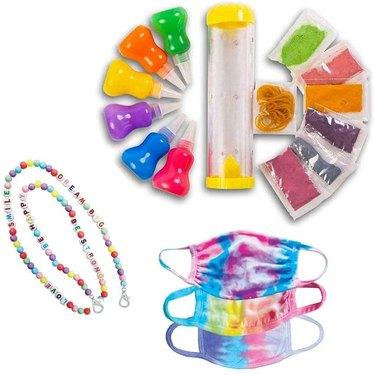 DIY Tie-Dye Face Mask & Lanyard Kit for Kids