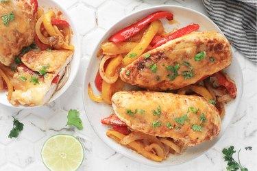 Fajita stuffed chicken breast recipe