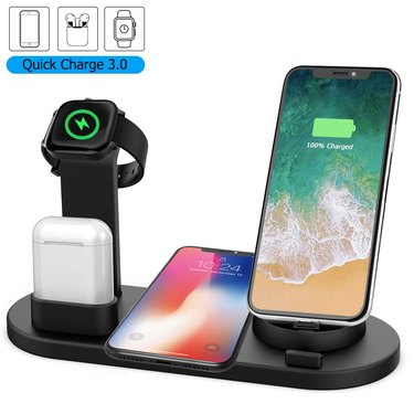 four in one wireless charging dock