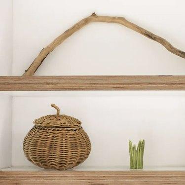 wicker pumpkin basket