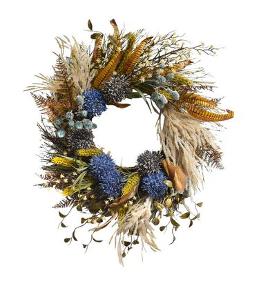 dried floral fall wreath