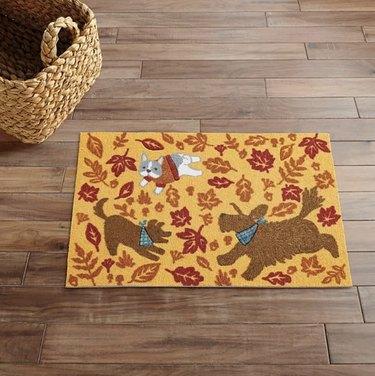 kitchen mat fall dogs