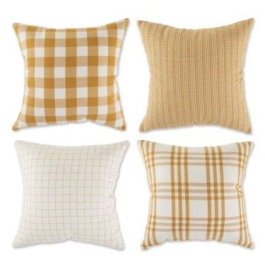 plaid pillow cover set