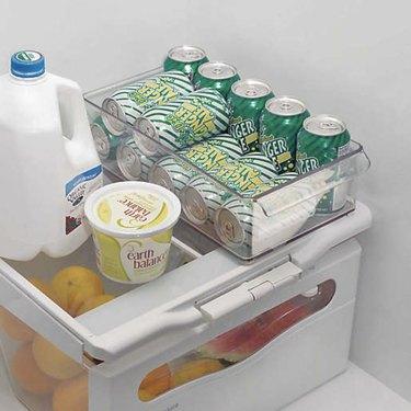 fridge organizing bins