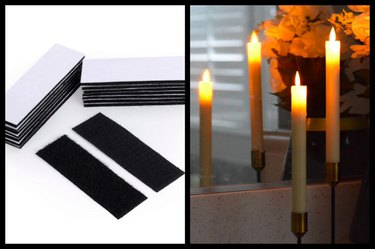 double-sided tape mounting strips / LED wedding candles