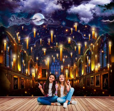 Great Hall Wizard's Castle Self-Adhesive Wall Mural by Recallart