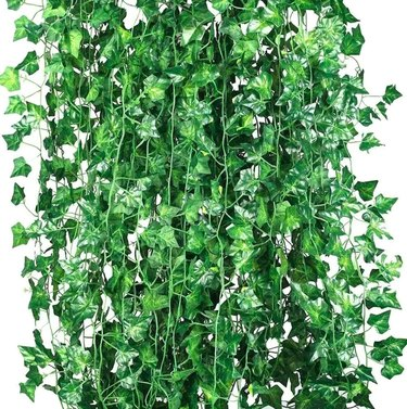 faux ivy curtain garlands