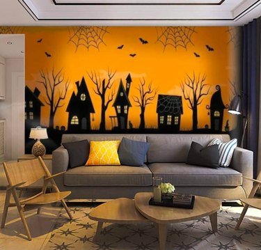 SKIWAMural Removable Halloween Peel and Stick Wallpaper