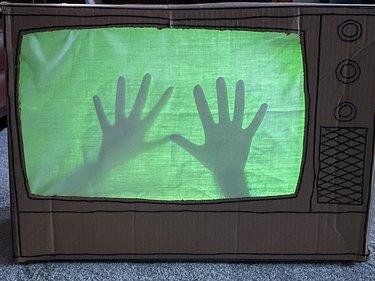 Finished 'Poltergeist' Haunted TV Decoration