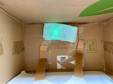 place tissue paper over light to diffuse