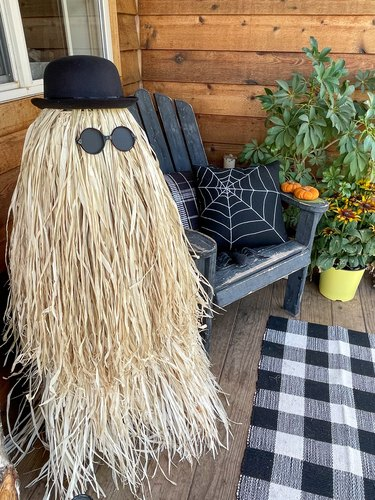 Finished Cousin Itt on the front porch