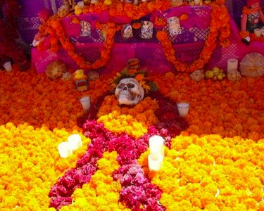 Marigold Garlands From Mexico for Day of the Dead by FriduchaYMas