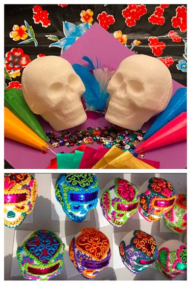 Sugar Skull Decorating Kit by mlueracollections