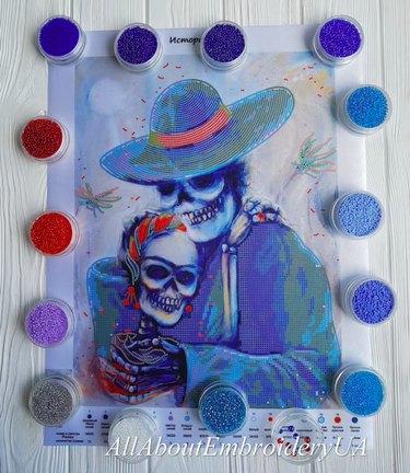 Skeletal Embrace Bead Embroidery Kit