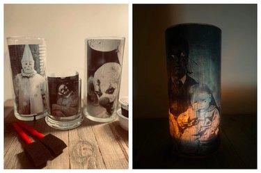 Spooky DIY Creepy Photo Candle Holder Kit