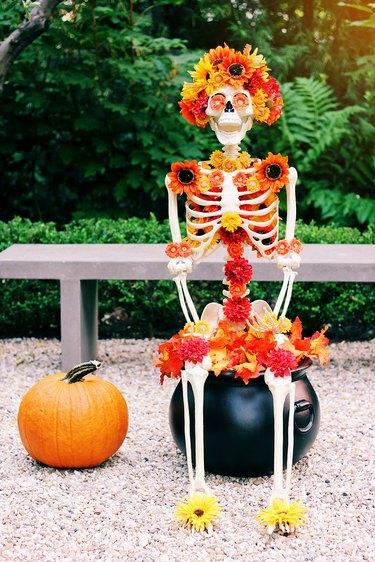 floral skeleton