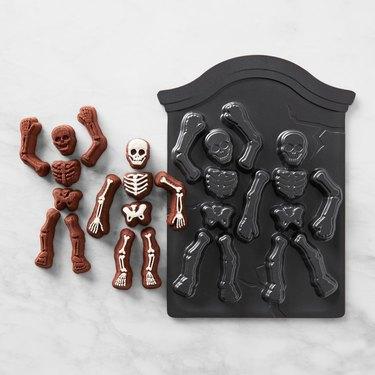 skeleton cake pan