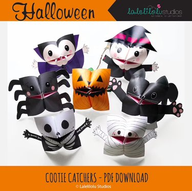 Printable Halloween Cootie Catchers by LaleliloluStudios