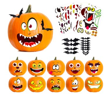 No-Carve Pumpkin Decorating Sticker Kit