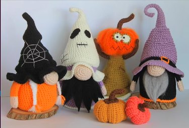 Halloween Gnomes 4-in-1 Crochet Pattern by PamPinostore