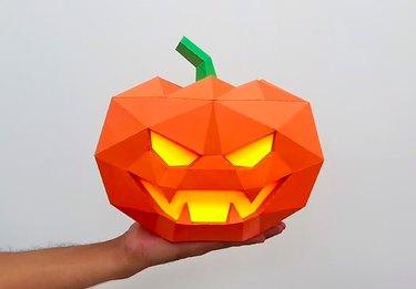 DIY Halloween Polygon Pumpkin by PaperAmazeDigital