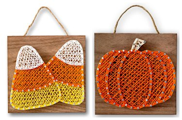 Candy Corn or Pumpkin String Art by StringArtFromHeart