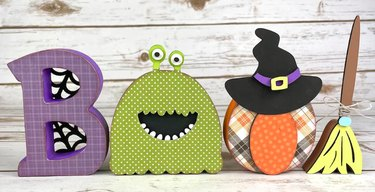 BOO! DIY Halloween Wood Decor Kit by ScrapHappyPagesStore