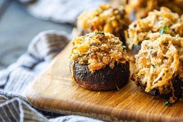 Garlic Parmesan stuffed mushrooms recipe