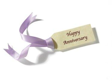 Isolated Happy Anniversary Label