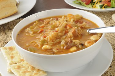 Bowl of chicken and sausage gumbo