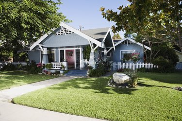 Craftsman home exterior and front yard