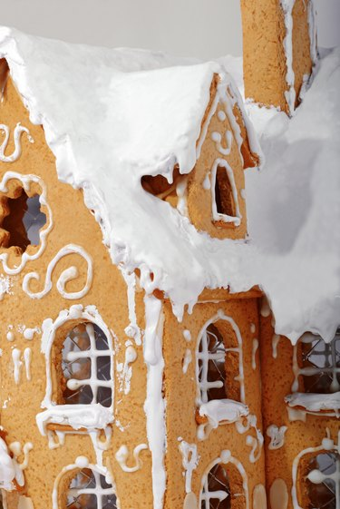 Windows of a Gingerbread House