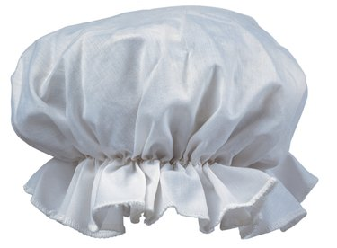 close-up of cloth bonnet