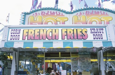 French fried vendor at carnival