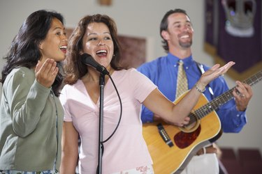 Musicians in praise band