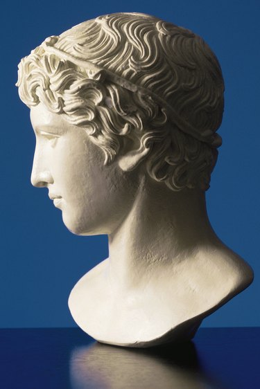 Profile of bust sculpture