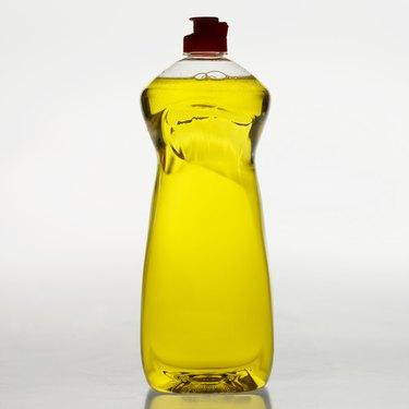Full length view of washing up liquid bottle