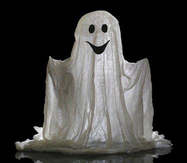 Halloween ghost, isolated on  black