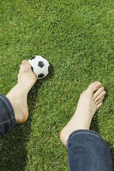 Man with a soccer ball