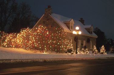 House exterior with christmas decorations