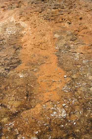 Orange and brown mud