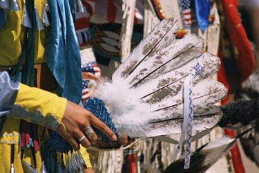Cropped view of Native American ceremony